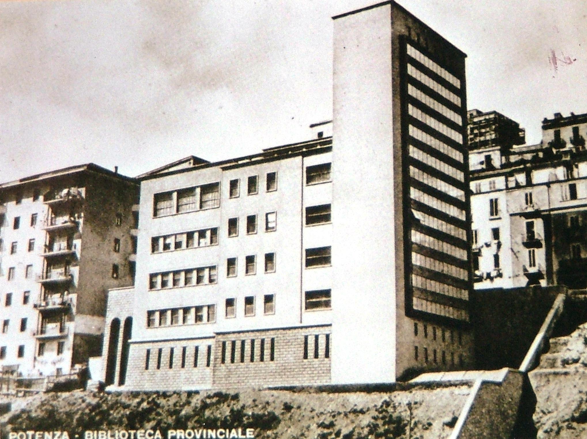 La Biblioteca Provinciale - Cartolina d'epoca - (1940) - (1)